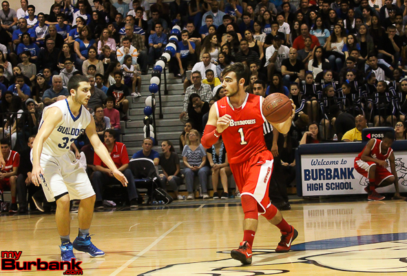 Burroughs' Chris Hovasapian scored 13 points in the loss (Photo by Ross A. Benson)