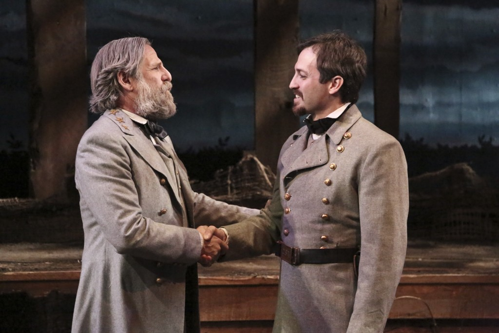 "Bjorn Johnson and Shaun Anthony star in the West Coast Premiere of the Colony Theatre Company's production of ""THE ROAD TO APPOMATTOX"" directed by Brian Shnipper and now playing at the Colony Theatre in Burbank (Photo Courtesy Michael Lamont)"