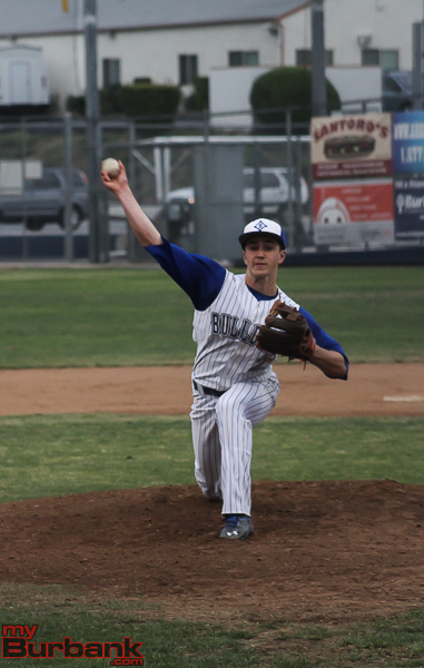 Randy Higgens went six strong innings for Burbank (Photo by Ross A. Benson)