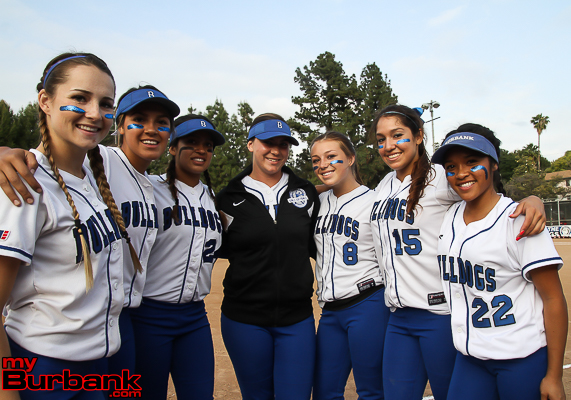 Burbank's senior class rose to the occasion against Burroughs (Photo by Ross A. Benson)