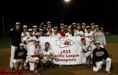 Burroughs Indians: 2015 Pacific League Champions (Photo by Ross A. Benson)