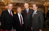 Master's Men Darrell Taylor, guest speaker Bruce Osgood, LA County Mayor Michael Antonovich and Burbank Mayor Bob Frutos (Photo by Ross A. Benson)