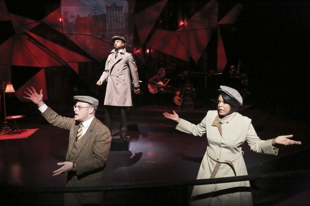 Jake Broder, Elijah Rock and Angela Teek star in the Colony Theatre Company production (Photo courtesy  Michael Lamont)