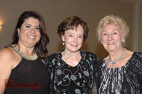 Patricia Taylor, from left, Judy Pierce and Irene Metzger sparkle during the annual spring social.