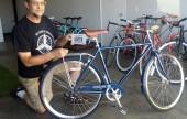 Pat with Mayor's bike