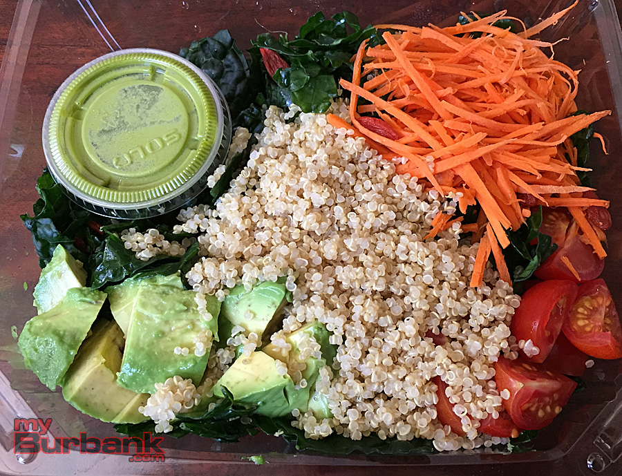Super tasty and healthy Vegan Quinoa Kale salad at Acai jungle Cafe. (Photo By Lisa Paredes)