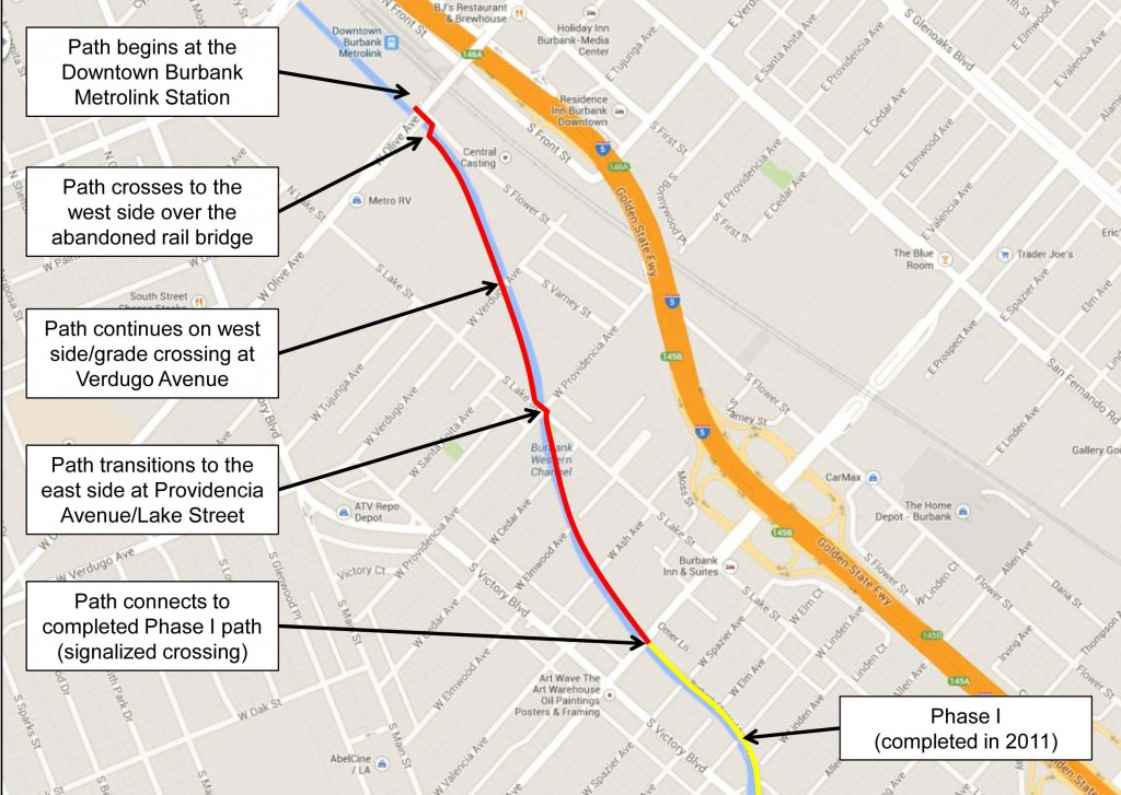 Proposed Burbank Channel Bikeway Project (Phase 2) Concept Route (Courtesy City of Burbank)