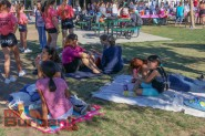 Luther MS Families lay down on the grass at Luther Burbank Middle School Friday during the Luther Beach Party Photo By: Edward Tovmassian