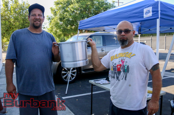Mark Peale and Enrique Castillo took home first place this year at the Elks Lodge Annual Chili Cook-Off (Photo By Edward Tovmassian)