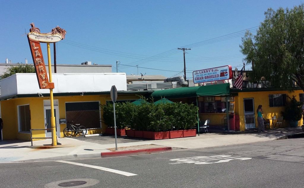 Larry's Chili Dogs has shaded outdoor seating