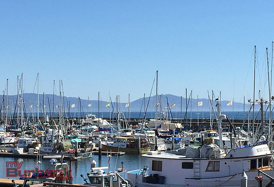 Santa Barbara Harbor from the deck at Brophy Bros. (Photo By Lisa Paredes)