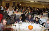 More than 300 Boys & Girls Club members and their families dine in the Marriott's main banquet hall.