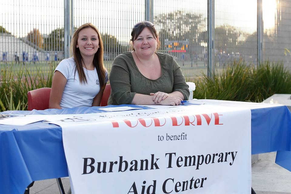 Charmalee Magoon and her daughter Alyssa Magoon (  JBHS Class '16) at the 2014 BTAC Food Drive