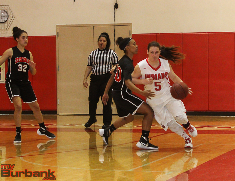 Junior forward Haley Wilson accounted for five points in blitz over Pasadena. (Photo by © Ross A. Benson)