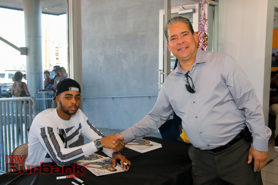 lakers rookie visits burbank car dealership. Cars Review. Best American Auto & Cars Review