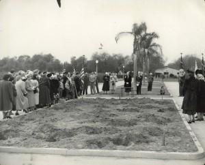 ROse garden memorial  dedication veterans book