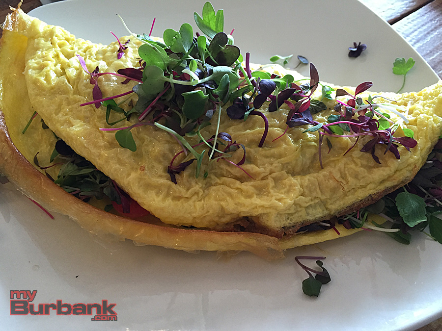 Sweetsalt's Micro-Greens Omelet. (Photo By Lisa Paredes)