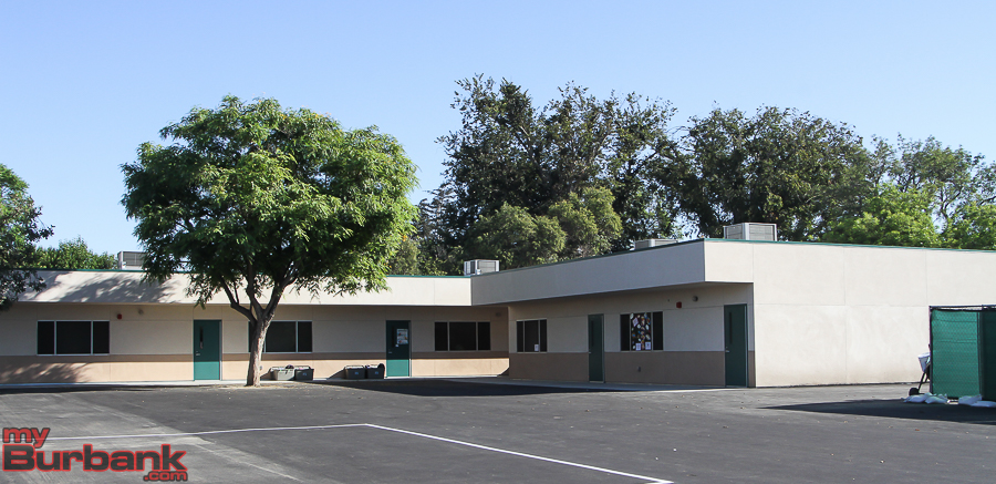 New permanent modular classrooms replace portable bungalows at several BUSD elementary schools, including this one at Roosevelt Elementary. (Photo by © Ross A. Benson)