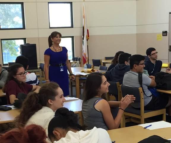 burbank city clerk visits government classes at burbank high school
