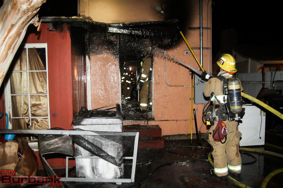 BFD House Fire 4511 Clark St.   (© Ross A. Benson)