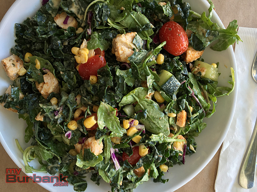 Simplethings' Kale salad. (Photo By Lisa Paredes)