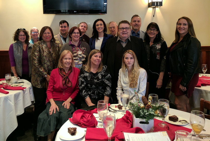 California State Controller Betty Yee (second row, left) joins the Burbank Democratic Club for their annual holiday party