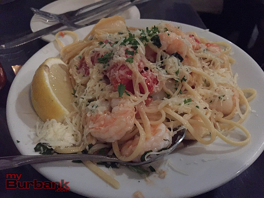 Seafood pasta, Brophy Bros. Santa Barbara. (Photo By Lisa Paredes)