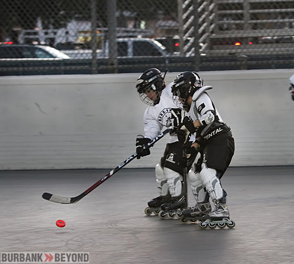 Kids of all ages can practice their hockey skills at Burbank's Hockey Rink located at Ralk Foy Park.(Photo by Ross A. Benson)