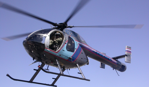 Burbank Police's Notar Helicopter is constantly visible patrolling the skies  (Photo By Ross A. Benson)