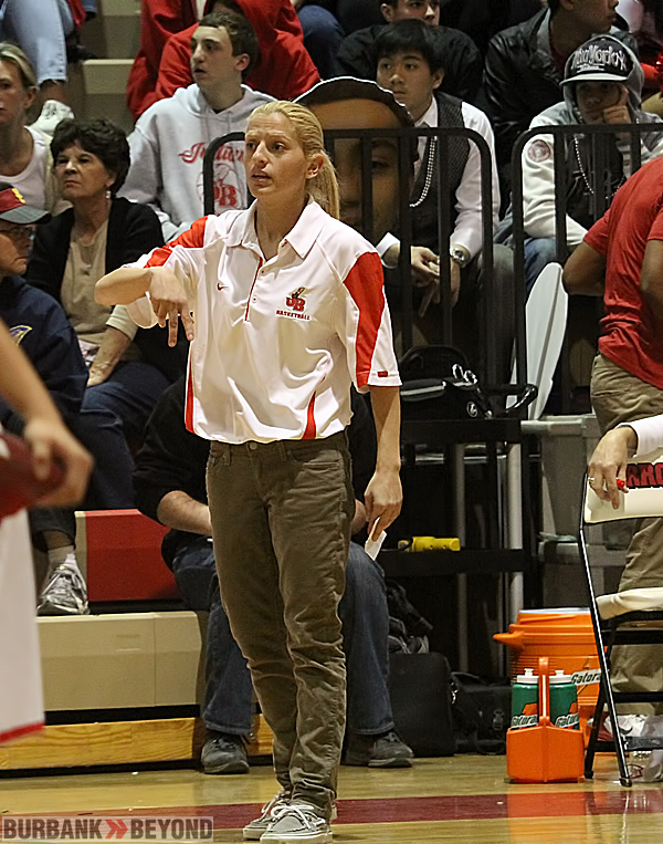Burroughs Coach Vicky Oganyan won her second league title in three years (Photo by Ross A. Benson)