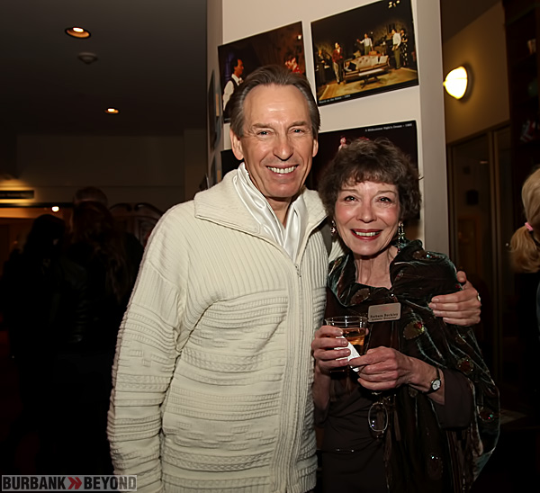 Playwright/Director Peter Colley with Colony Artistic Director Barbara Beckley following opening night. (Photo by Ross A. Benson)