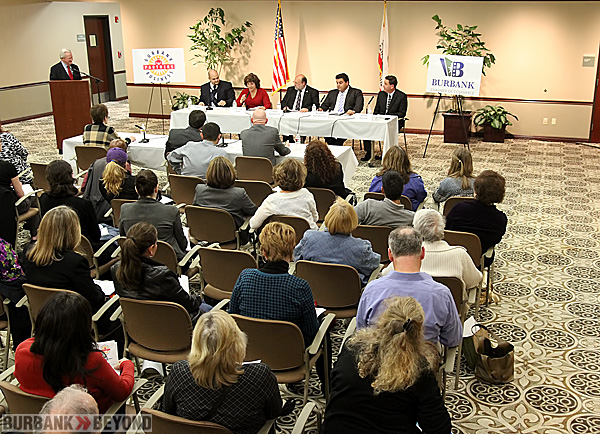 Burbank Board Of Education Candidate Forum held Thursday at The Buena Vista Library. (Photo by Ross A. Benson)