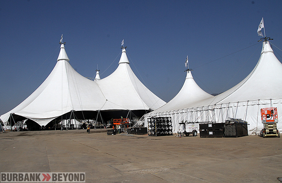 Cavalia's Odysseo tent which is 110 feet high compared to a 10 story building, it covers more than 47,000 square feet. (Photo by Ross A. Benson)