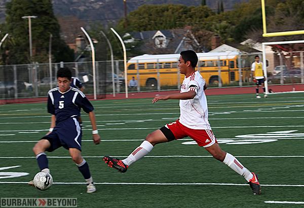 Burroughs boys soccer (Photo by Ross A. Benson)