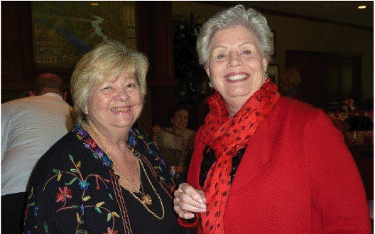 Jean Marie Watson, Collector's Club Chairperson with Guild member Tish Sellers