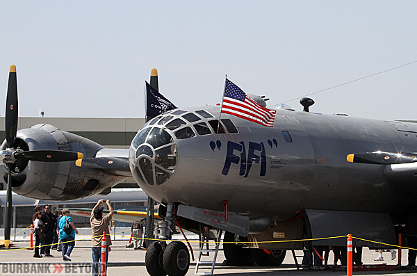 B-29 on display till Sunday at Atlantic Aviation. (Photo by Ross A. Benson)