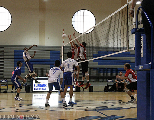 Burroughs blocked Burbank's path to a victory on Thursday (Photo by Ross A. Benson)