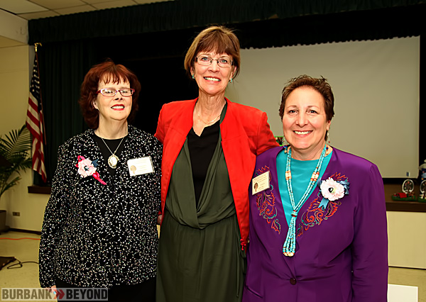 Celebrating Burbank Coordinating Council 80 year is L/R Eileen Cobos President, Vice Mayor Emily Gabal-Luddy, and Past President Janet Deil. (Photo by Ross A. Benson)