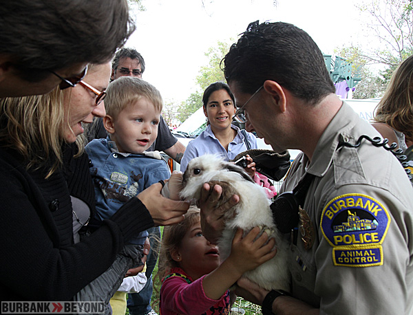 One of the event that was very popular in past years was a visit from Burbank Animal Control with a real bunny. (Photo by Ross A. Benson)
