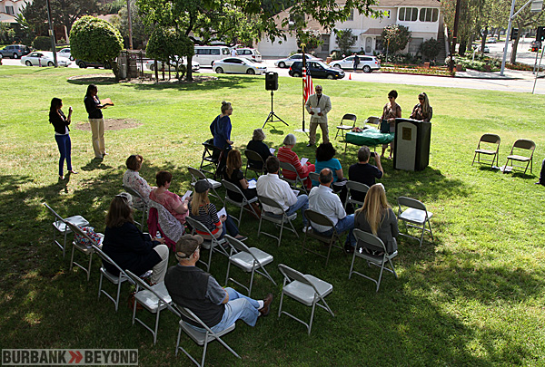 Citizens gather for this years Burbank Civic Pride Committee's 58th annual 'Plant a Tree Event. (Photo by Ross A. Benson)