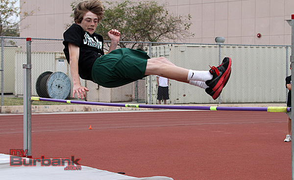 John Muir track and field in the high jump (Photo by Ross A. Benson)