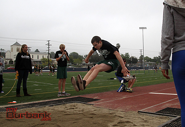 John Muir track and field in the long jump(Photo by Ross A. Benson)