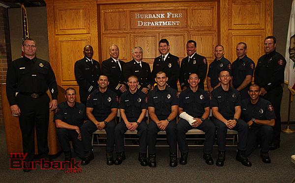 Burbank Fire Fighter Recruit Class of 2013. (Photo by Ross A. Benson)