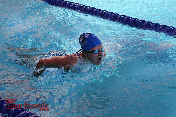 Burbank girls swimming (Photo by Ross A. Benson)
