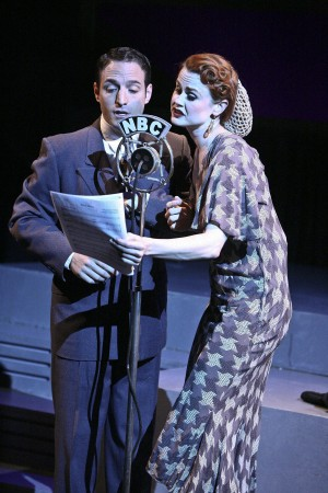 Ben D. Goldberg and Rebecca Ann Johnson star in the world premiere musical FALLING FOR  MAKE BELIEVE at the COLONY THEATRE. (Photo Courtesy Michael Lamont)
