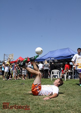 The  Futboleros put on a display of soccer skills (Photo by Ross A. Benson)