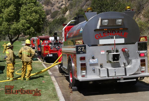 Glendale supplied several engine companies along with this water tender. (Photo by Ross A. Benson)