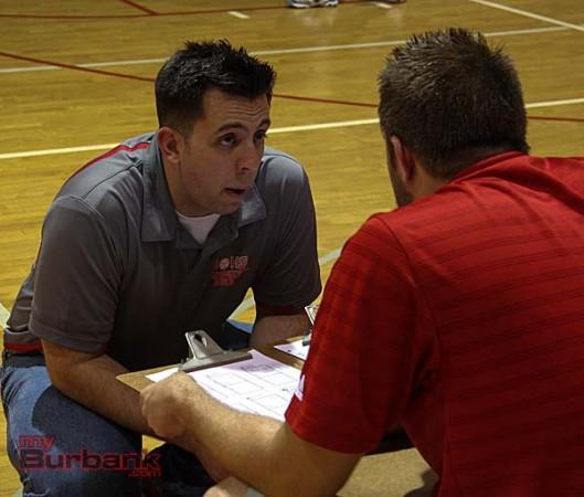 Coach Joel Brinton (Photo by Dick Dornan)