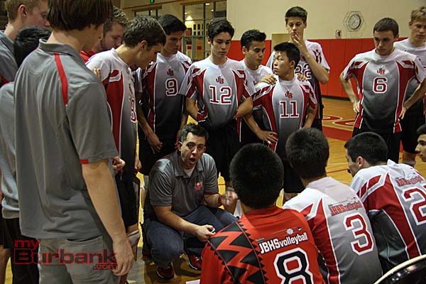 Burroughs boys volleyball finished 21-8 and as Pacific League champions (Photo by Dick Dornan)