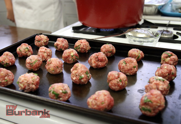 An important ingredient meatballs.(Photo by Ross A. Benson)
